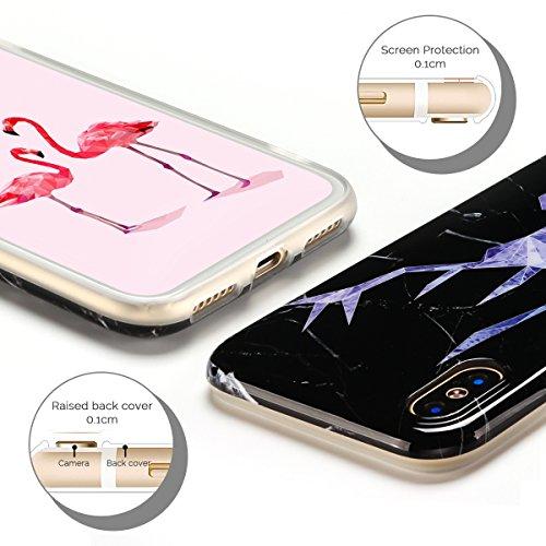 Cover iPhone X Case iPhone X Custodia Spiritsun Moda Soft TPU Case Christmas Kawaii Cover High Quality Scintillante Luminoso Case Elegante Souple Flessibile Liscio Copertura Perfetta Protezione Shell  Cervo testa 2