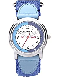 Cannibal Unisex Quartz Watch with White Dial Analogue Display and Blue Nylon Strap CT203-05