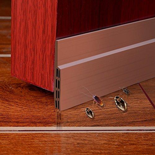 Tür-boden-dichtung ( Unter dem Tür-Fegen-Wetter-abisolierenden Tür-unteren Dichtungs-Streifen,5cm Breite x100cm Länge (Braun))