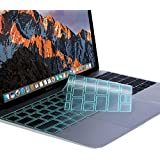 Mosiso Premium Soft TPU Ultra Thin Transparent Keyboard Cover Protector For MacBook Pro 13 '' 2017 & 2016 Release A1708 No Touch Bar & New MacBook 12 '' A1534 Protective Skin, Mint Green