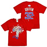 adidas Los Angeles Clippers NBA Big Jungen Blake Griffin # 32 Short Sleeve Broken Tee, Rot Gr. L, rot