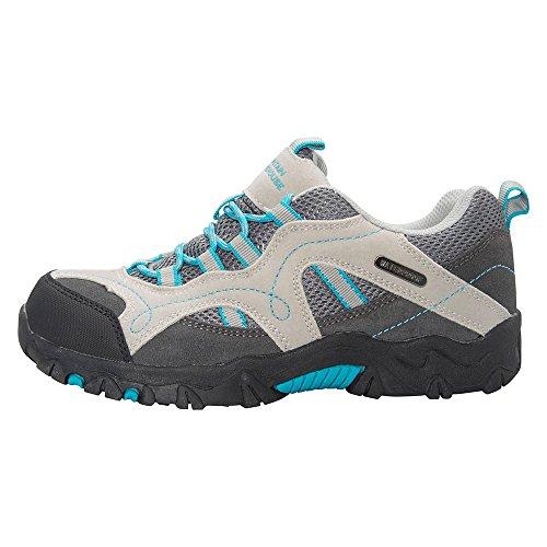 Mountain Warehouse Stampede Chaussures de Randonnée Enfants Fille Garçon Imperméable Suede Sportif Confort Sarcelle