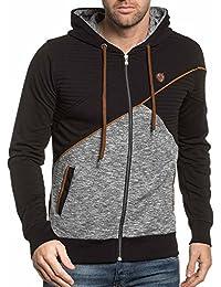 BLZ jeans - Sweat homme zippé à capuche noir