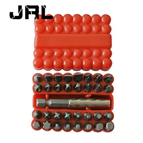 Preisvergleich Produktbild JRL 33pcs Sicherheit Bit-Set Torx Hex Star Maulschlüssel Schraubendreher Werkzeug Bits