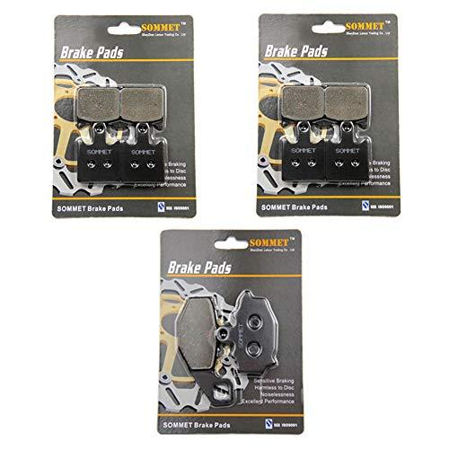 SOMMET Motocyclette Plaquettes de Frein Avant + Arrière pour Kawasaki ZX6R ZX 600 P (07-08) / ZX 600 R (599cc) (09-16)