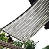 Rete ombreggiante Pannello di tonalità Grigio Striscia per Canile/Tetto/Patio/Balcone, Paralume di Protezione UV con Gommini, Dimensioni Opzionali (150 G/M²) (Size : 5x6m)