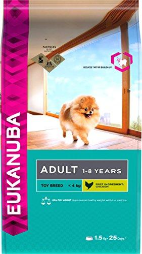Eukanuba Premium Hundefutter für sehr kleine Hunde, Trockenfutter mit Huhn (1 x 1,5 kg)