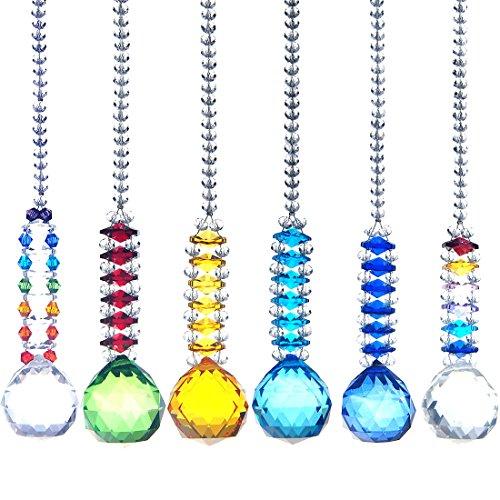 H y D 6piezas bola de cristal para colgar Prism Home Feng Shui colga