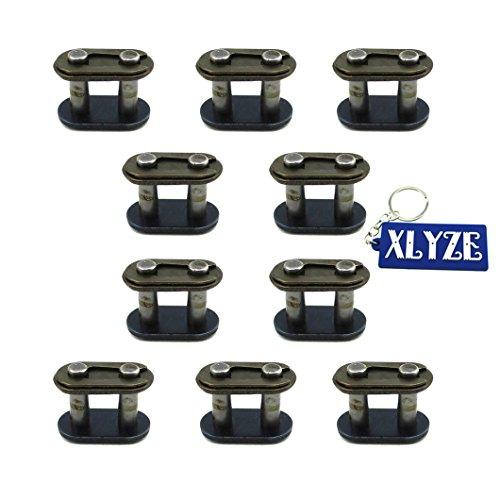 xlyze T8F Chain Spare Master Links 10pcs für 43CC 47cc 49cc 2Stroke Dirt Super Pocket Bike Mini ATV Quad