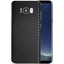 DolDer Galaxy S8+ Sticker Skin Handyfolie Schutzfolie Slim Sticker in Carbon Matt in Carbon Black