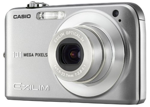 Casio EX-Z1050SREDA Digital Camera - Silver (10.0MP,  3x Optical Zoom)