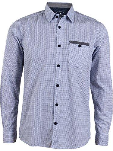 TOM TAILOR für Männer Shirt/Blouse Gemustertes Hemd mit Brusttasche White (2000)