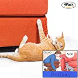 PetIsay Premium Furniture Protectors from Cats(Set of 4), Self-Adhesive Sheets with Twist Pins, Cat Repellent for Furniture - Cat Scratch Deterrent - Cat Couch Protector (46 L X 20.5cm W, Clear)