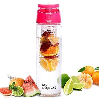 ELEGIANT® 800mL Mode Kunststoff Sportflasche Trinkflasche Bottle Infusion Infuser Transparenz mit Filter fuer Obstzusätze Getränk Fruit Juice