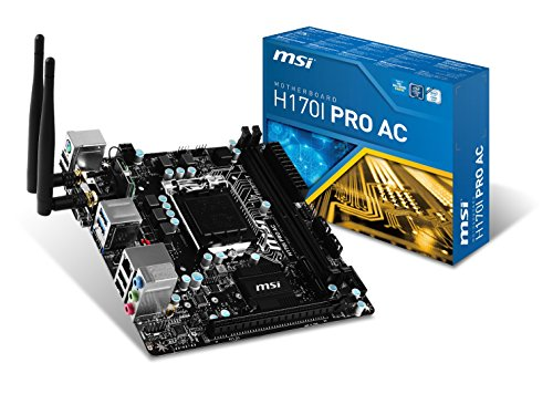 MSI H170I PRO AC - Placa base (zócalo LGA 1151, DDR4-2133 MHz,1 x Turbo M.2 32 Gb/s, 6 x SATA 6 Gb/s, 1, USB 3.1 y 2.0)