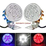 #7: Thump Universal 6 LED Round Random Colour Fog Auxiliary Light with Stand for All Bikes and Scooters Geared/Non-Geared Universal For Cars