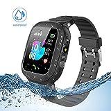 Jslai smartwatch Enfants traqueur LBS/GPS, Montre Intelligente téléphone Compatible...