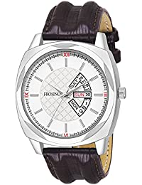 Frosino FRAC061801 Analog Date & Day Function Frosting White dial Casual Watch for Men