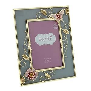 grav rose gold cadre pour photo motif papillon rose. Black Bedroom Furniture Sets. Home Design Ideas