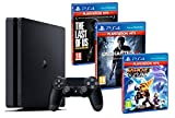 PS4 Slim Consola Playstation 4 Negra [HITS Pack] Uncharted 4 + The Last of Us: Remastered + Ratchet & Clank