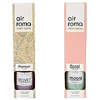 AirRoma Combo of Velvet Fragrance Air Freshener Spray 200 ml & Mogra Magic Fragrance Air Freshener Spray 200 ml