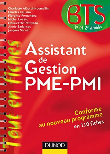 Assistant de gestion PME-PMI - 9ème édition : en 113 fiches (Tout en fiches)