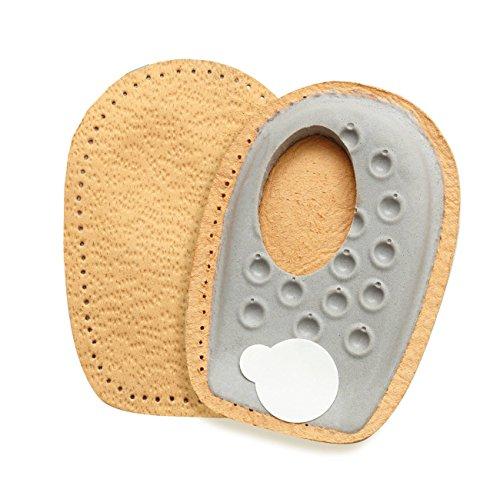 FabaCare Premium Schuheinlagen Heel Side Spar, Leder Fersenpolster für seitlichen Fersensporn, Fersenkissen, Fersenkeil, Einlage für bequemes Gehen und Laufen, Größe S (Fersenpolster Seitliche)