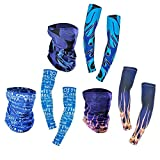 #8: Vodool 1 Pair Unisex Outdoor Cycling Sun UV Protection Cooling Fashion Arm Sleeves+ Scarf Set