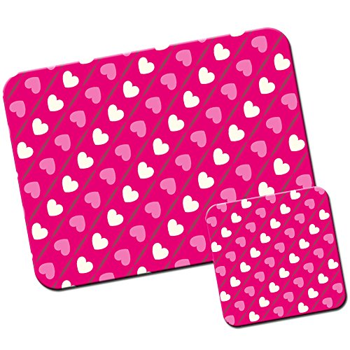 rosa-cuore-patterns-tappetino-per-mouse-pad-e-set-di-sottobicchieri-diagonal-pink-white-hearts