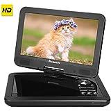 """10,1"""" HD Lecteurs DVD portables 5 heures de batterie,NAVISKAUTO voiture appuie-tête moniteur appuie-tête de montage,SD/ USB,AV IN / OUT,écran pivotant 270 °"""