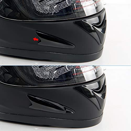 Yorbay Motorradhelm Integralhelm Sturzhelm Helm mit verschienden Typen & in unterschiedlichen Größen (Schwarz matt, M) - 8