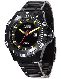 DETOMASO Herren-Armbanduhr Detomaso Matera Tritium Solar Analog Quarz DT2044-B