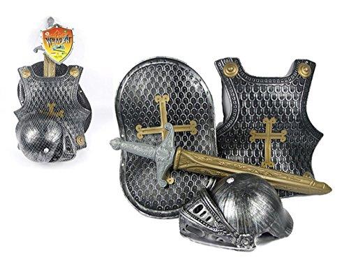 Ritter Kostüm Brustpanzer - THEE Mittelalter Brustpanzer Ritter Rüstung Kostüm für Kinder Halloween Karneval Fasching Spielzeug Weinachten Geschenk