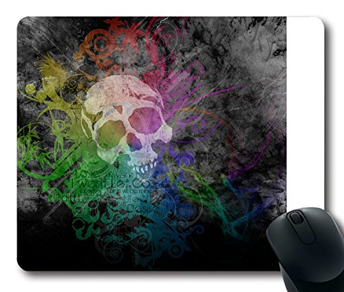 epression Skull Parreirao Diogo Colors Rainbow Piece Art Mouse Pad Größe: 9 inch(220mm) X 7 inch(180mm) ()