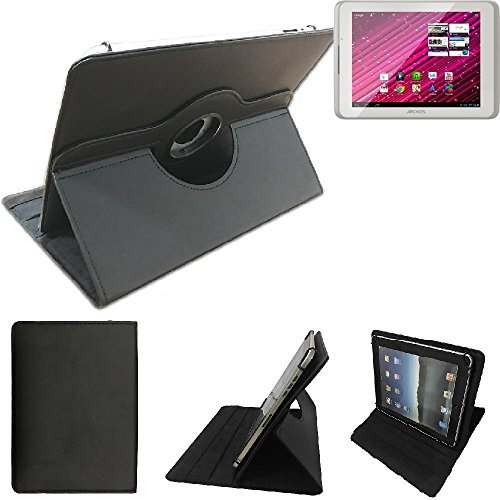 K-S-Trade Archos 80 Xenon Schutz Hülle 360° Tablet Case Schutzhülle Flip Cover für Archos 80 Xenon, schwarz. Tablet Hülle drehbar Standfunktion Ultra Slim Bookstyle Tasche Kunstleder