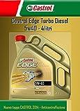 OLIO MOTORE CASTROL EDGE TURBO DIESEL FST 5W40 LT.4 (4 LITRI)