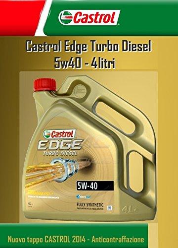 ricambi auto smc Olio Motore CASTROL Edge Turbo Diesel Fst 5W40 LT.4 (4 Litri)