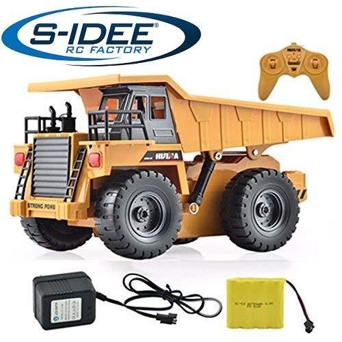 s-idee® S1540 Rc Kipper 6 Kanal Muldenkipper Tieflader Truck 1:18 mit 2,4 GHz kippbare Ladefläche Huina 1540*