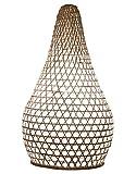 Lampenschirm Bambus Loui - weiss, Bambuslampen aus Bali, handgemachte Lampenschirme aus Bambus, als Hänge- oder Stehlampe für Innenbeleuchtung, Raumbeleuchtung, exotische Zimmerlampe, Bambusleuchte Asien