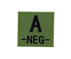 Patch ecusson brodé airsoft tactical militaire groupe sanguin thermocollant camo - A-