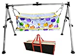 Multipro Indian Style Baby Cradle and Swing Frame Ghodiyu Hammock For Born Baby, Stainless Steel, Folding and Collapsible