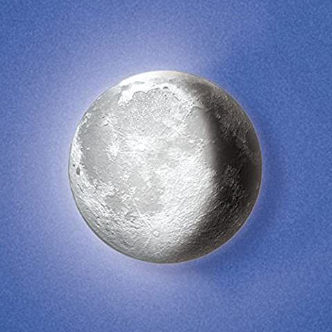 Moon In My Room, Wall Décor Night Light, Remote Control Moon Lamp (Moon Light White)