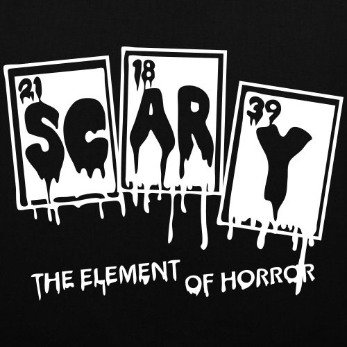 Spreadshirt Halloween Scary Element Of Horror Periodensystem Stoffbeutel Schwarz