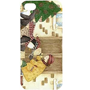 Casotec Holiday Porch Design Hard Back Case Cover for Apple iPhone 5 / 5S