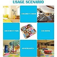 FB FunkyBuys® Children Floor EVA Foam Mat Kids Multicolor Interlocking Puzzles Play Mats Kids Play Room Bedroom Tiles 30 x 30cm (40 SQ.FT 40 PC)