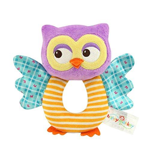 TOYMYTOY Bebé recién nacido suaves rattle Juguetes de traqueteo Juguetes de felpa para niños (Búho)