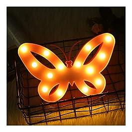 Lucy Day LED Lampe de modélisation Papillon Lampe de modélisation Chambre d'enfants créative lumière de Nuit décorative…