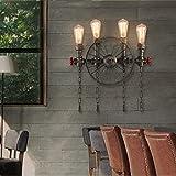Tipo: Lampada da parete Materiale principale della lampada: ferro Tipo di sorgente luminosa: lampada a incandescenza, lampada a risparmio energetico, LED Interfaccia sorgente luminosa: E27 * 4 (non inclusa lampadina) ...