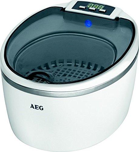 AEG 520690 Limpiador por ultrasonidos, Capacidad 600ml, Incluye Varios Soportes, 50 W, Blanco