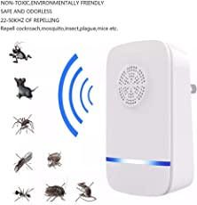 Outgeek Pest Repellent Ultrasonic Electronic Insect Repeller Pest Control Bug for Home